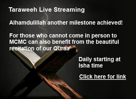 Taraweeh Live Streaming at MCMC