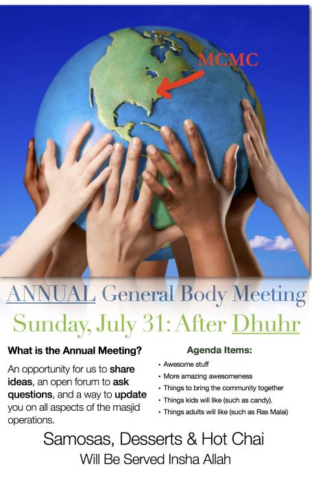 MCMC Annual General Body Meeting