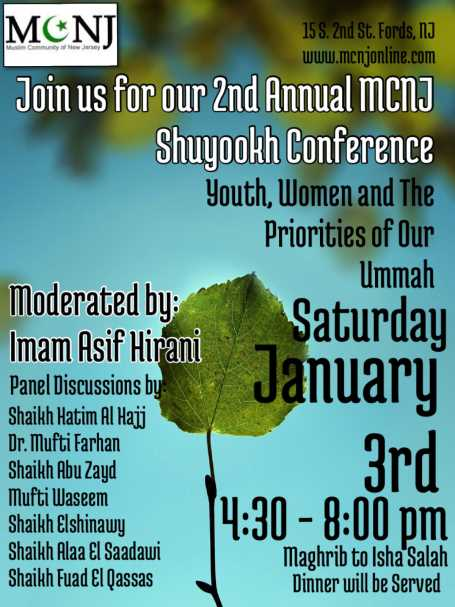 MCNJ Shuyookh Conference