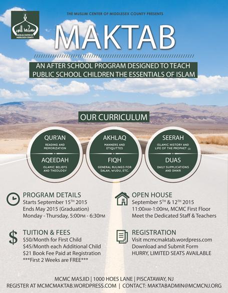 Maktab Registration 2015