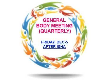 Quarterly General Body Meeting